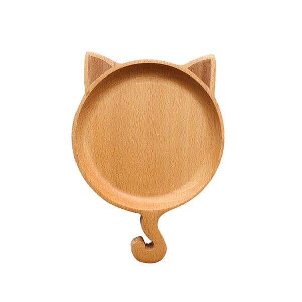 Wooden Dinner Plates/ Cute Cartoon Animal Dishes For Children