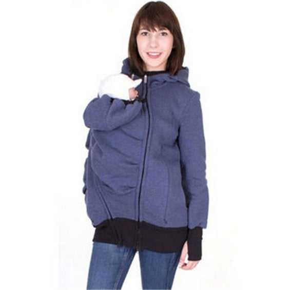 Hoodie with Baby Carrier Pouch