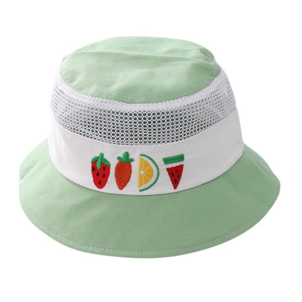 Unisex Cartoon Print Reversible Baby Bucket Hat