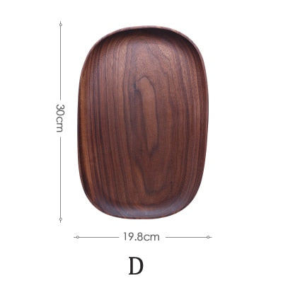 Wooden Irregular Oval Plates