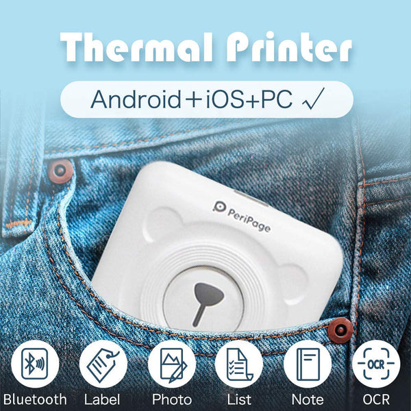Pocket Thermal Printer | Wireless Bluetooth Android iOS