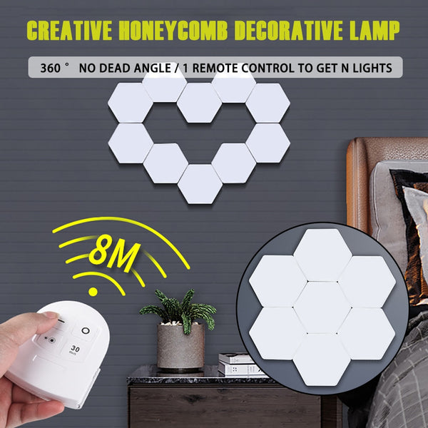 Touch Sensitive Hexagonal LED Night Light Lamp