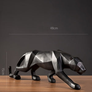 Abstract Animal Figurine Panther Resin Statue