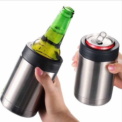 Beer Coke Cooler Multifunctional Double Wall Stainless Steel Insulated Thermos Can 12oz