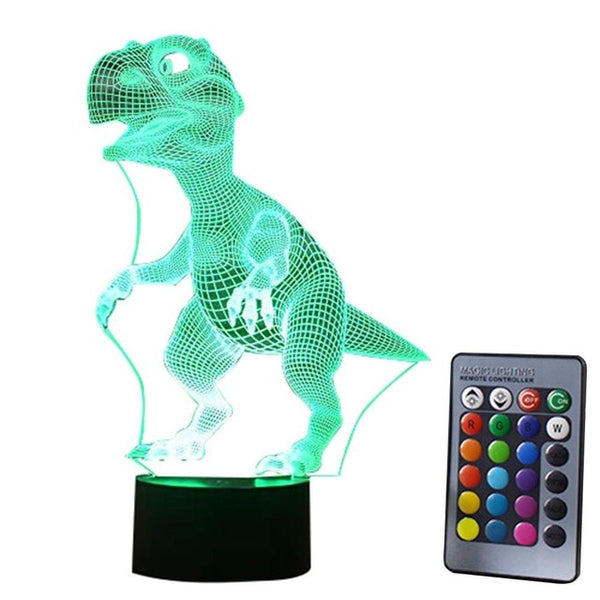 3D Dinosaur LED Lamp 7 Colors with Touch Control