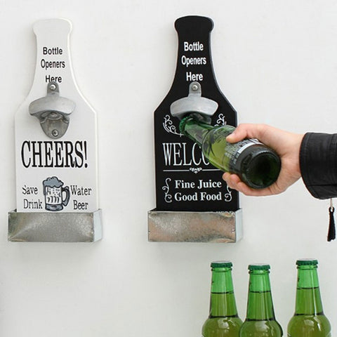 Wall Mounted Wine Beer Bottle Opener