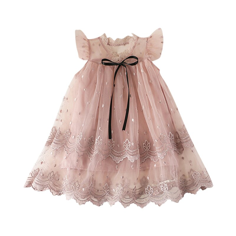 Baby Girl Mesh Flower Party Dress 2-7Y