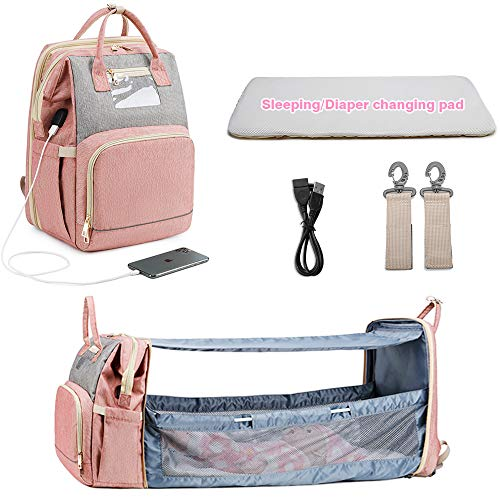 Baby Crib Diaper Bag Pink