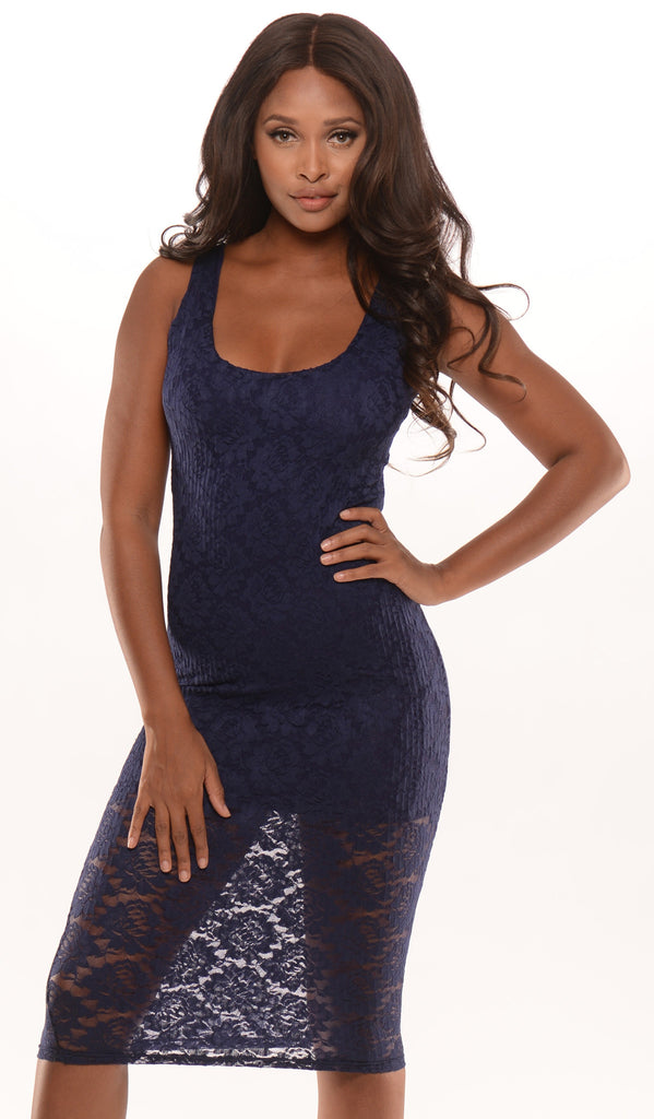 So Seductive Dress Navy