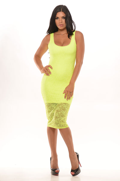 So Seductive Dress Neon
