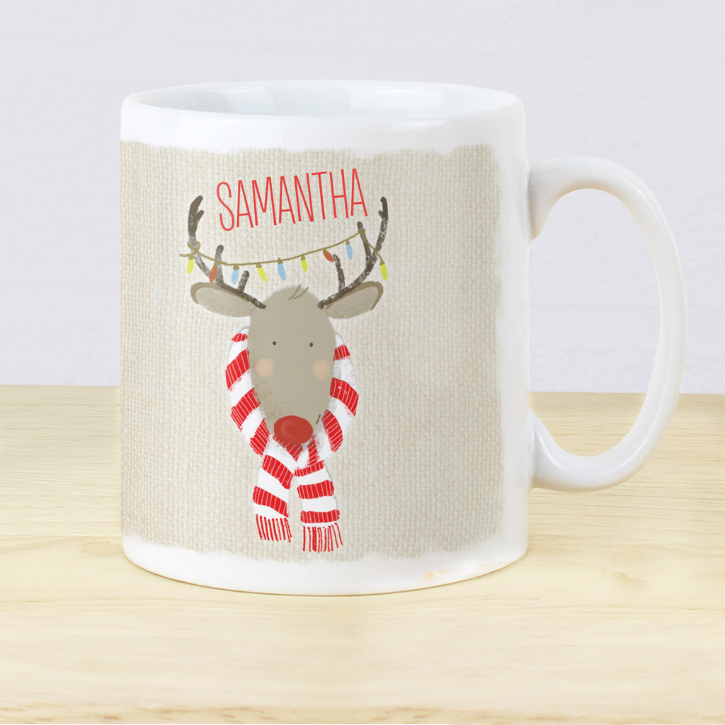Personalised Retro Reindeer Mug - Ceylon Teabox