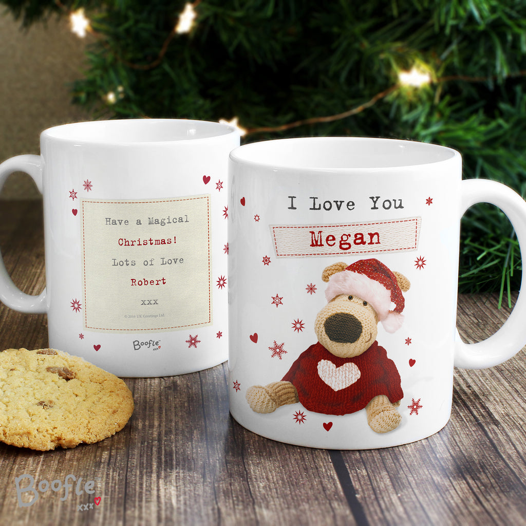 Personalised Boofle Christmas Love Mug - Ceylon Teabox