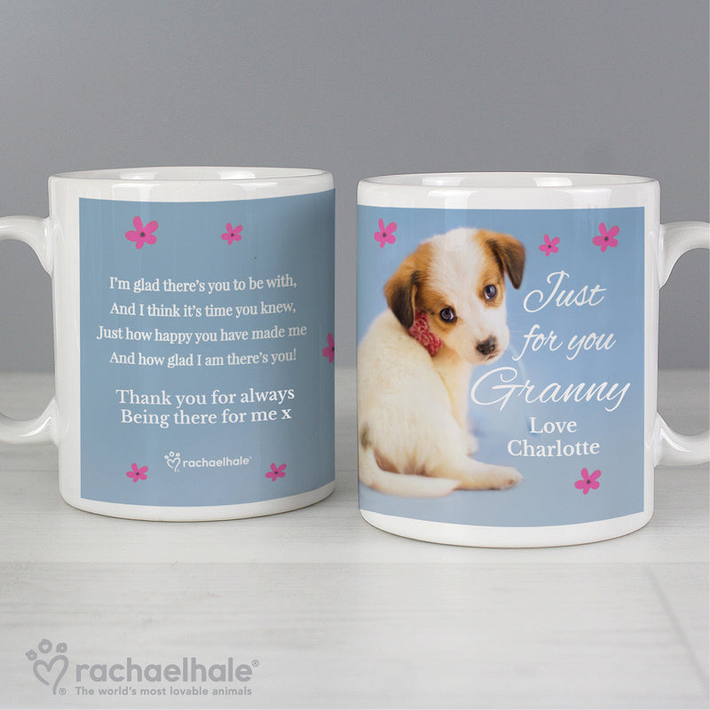 Personalised Rachael Hale 'Just for You' Puppy Mug - Ceylon Teabox