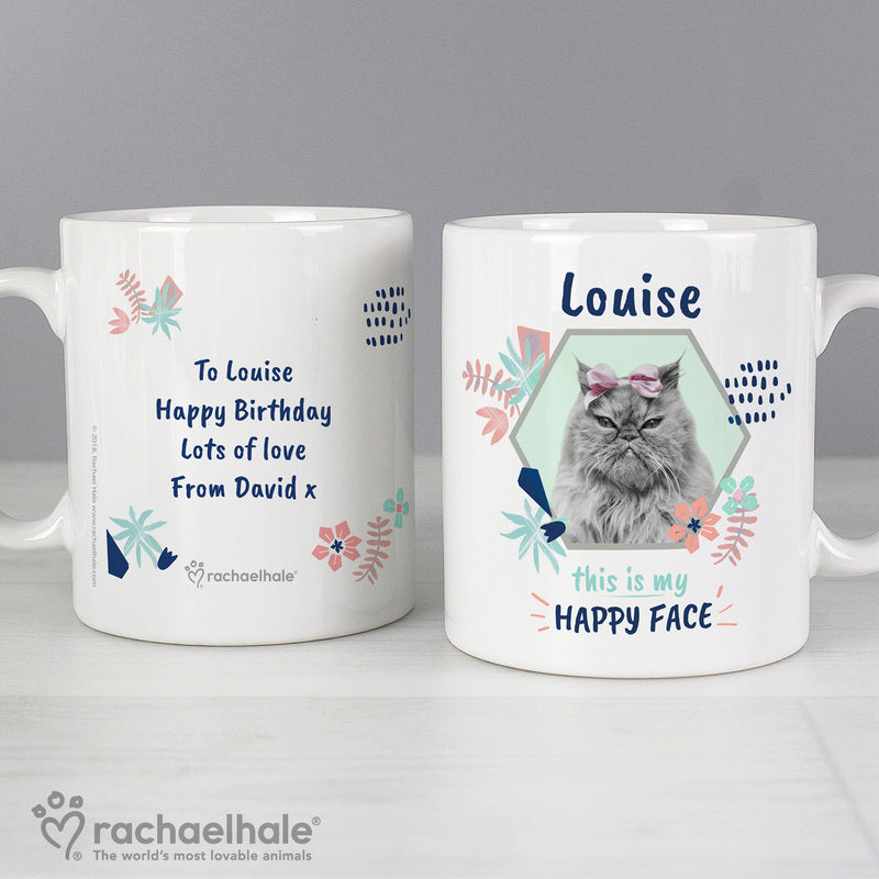 Personalised Rachael Hale 'Happy Face' Cat Mug - Ceylon Teabox