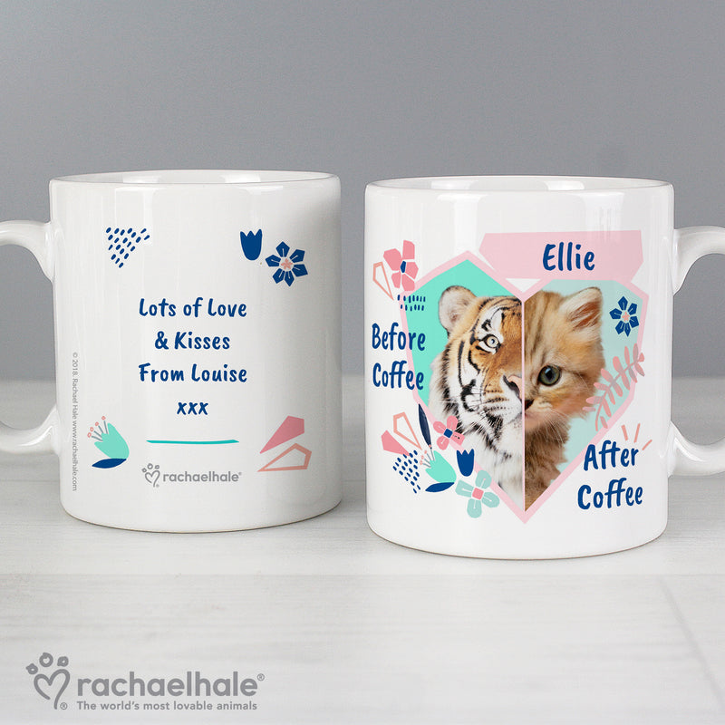 Personalised Rachael Hale 'Before Coffee/After Coffee' Cat Mug - Ceylon Teabox