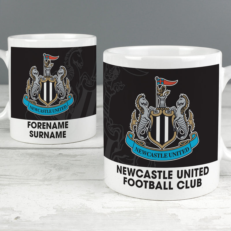 Personalised Newcastle United FC Bold Crest Mug - Ceylon Teabox