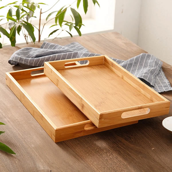Bamboo Rectangular Wooden Tea Serving Tray - Ceylon Teabox