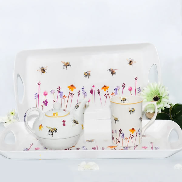 Busy Bees Medium Tea Serving Tray - Ceylon Teabox