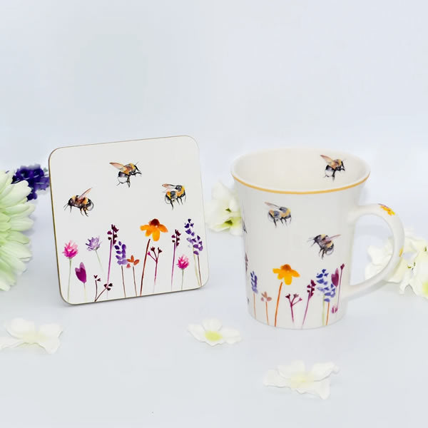 Busy Bees Mug & Coaster Gift Set - Ceylon Teabox