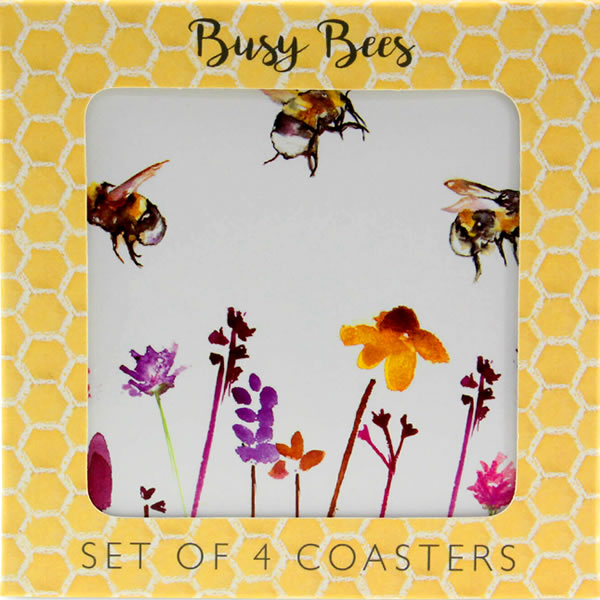 Busy Bees Set of 4 Coasters - Ceylon Teabox