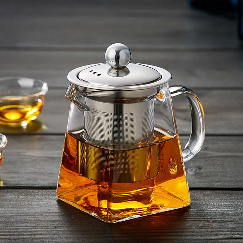 Heat Resistant Square Glass Teapot With Tea Infuser - Ceylon Teabox
