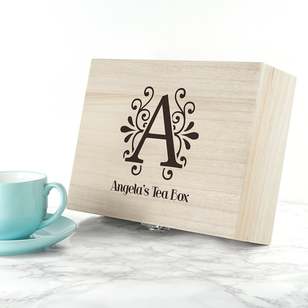 Personalised Initial Tea Box - Ceylon Teabox