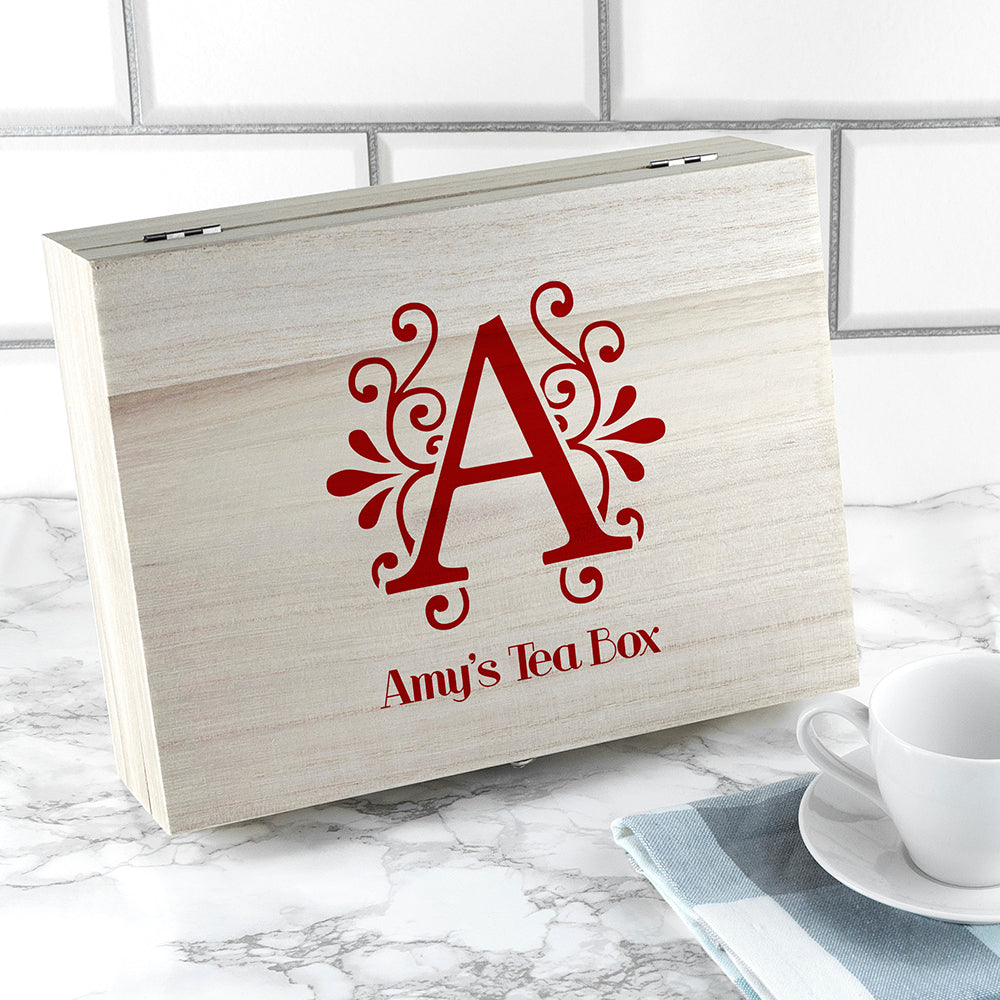 Personalised 'love Chai' Tea Box With Initial - Ceylon Teabox