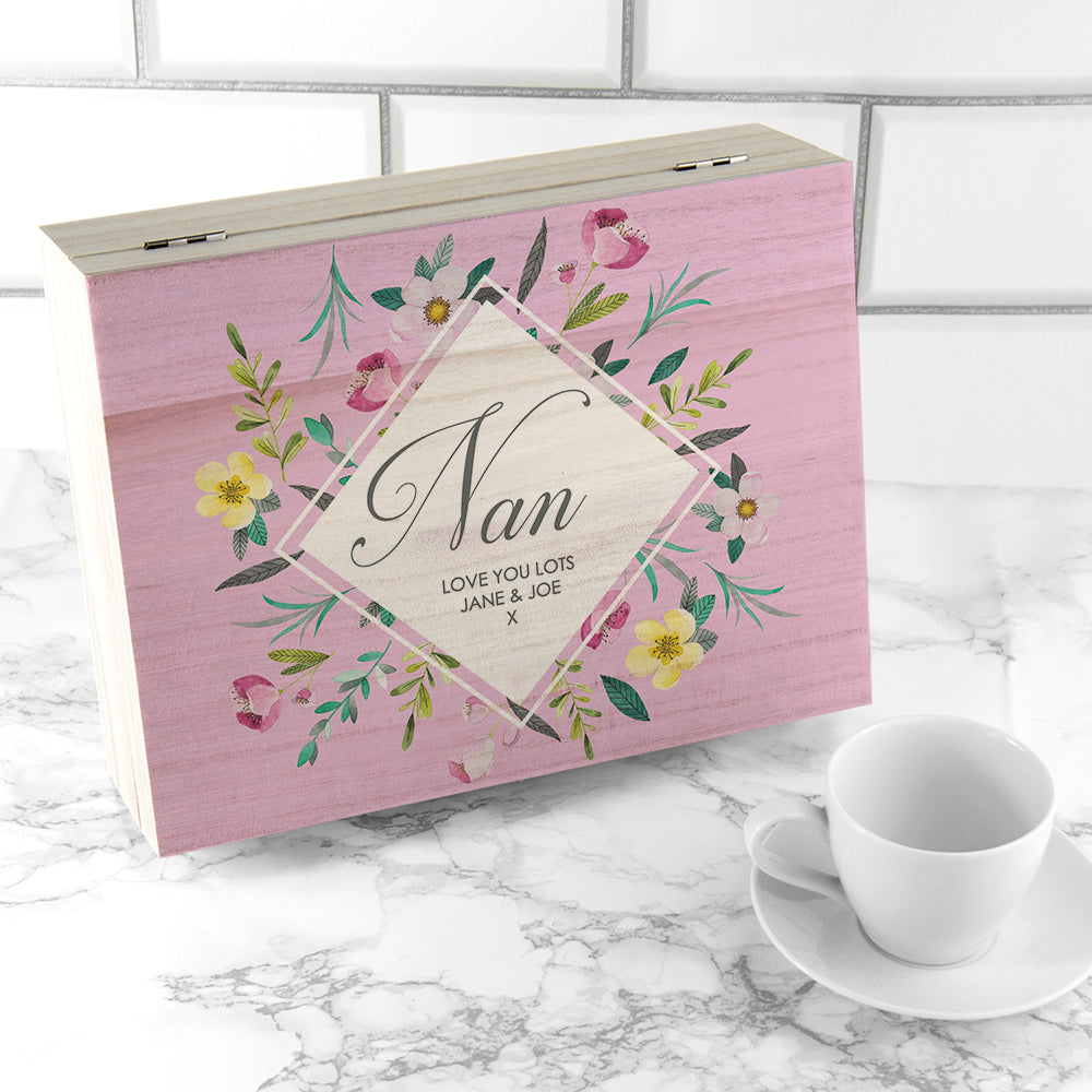 Personalised Botanical Mother's Day Tea Box - Ceylon Teabox