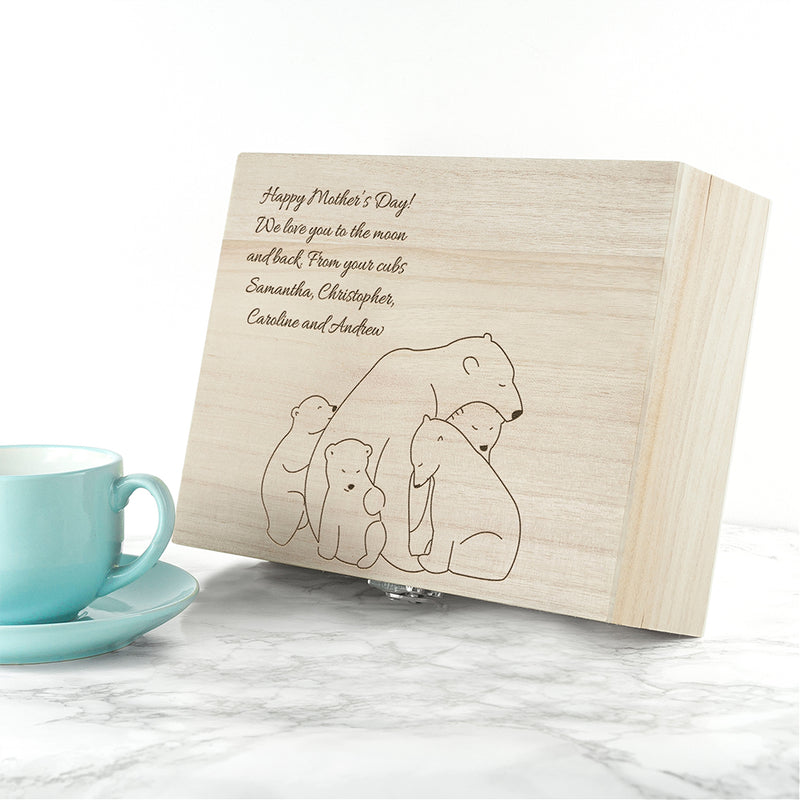 Personalised Mama Bear Tea Box - Ceylon Teabox