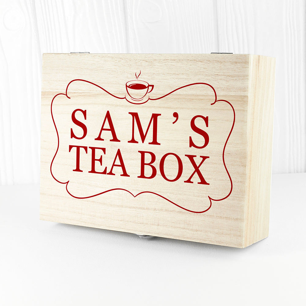 Personalised 'Love Chai' Tea Box With Name - Ceylon Teabox