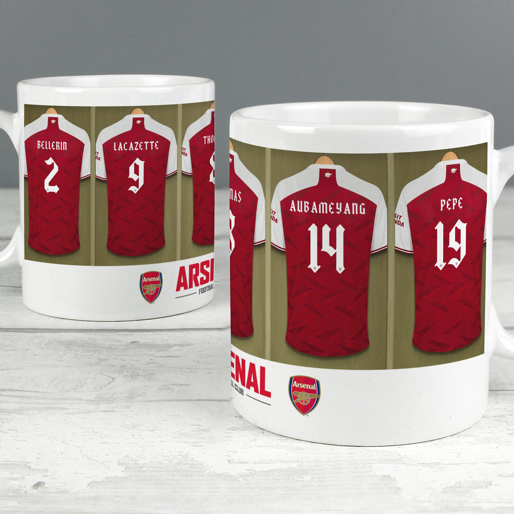 Personalised Arsenal Football Club Dressing Room Mug - Ceylon Teabox