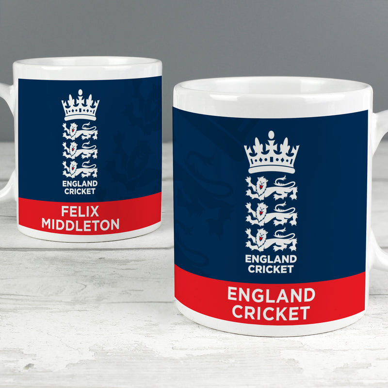 Personalised England Cricket Bold Crest Mug - Ceylon Teabox
