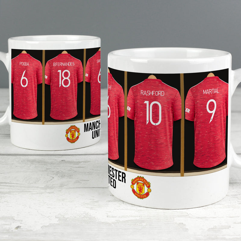 Personalised Manchester United Football Club Dressing Room Mug - Ceylon Teabox