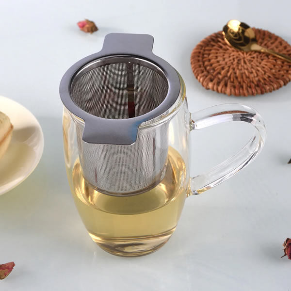 Stainless Steel Double Handle Tea Infuser with Lid - Ceylon Teabox
