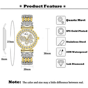 Butterfly Women Watches Luxury Brand 18K Gold Watch Waterproof Special eprolo
