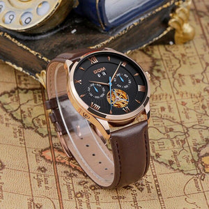 David - Men's Leather Belt Watch freeshipping - Hour Essence