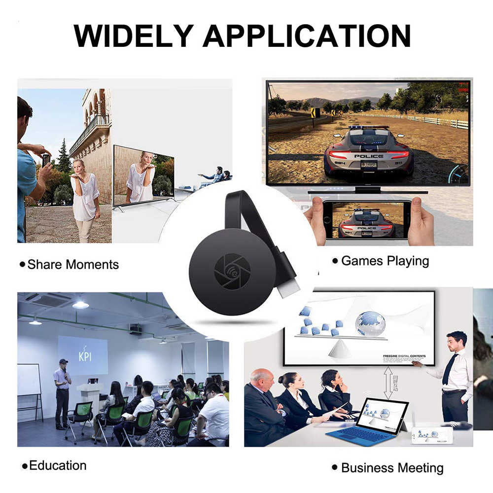 HDMI Dongle TV Stick 1080P Wifi Miracast Adapter Youtube Google Chromecast Netflix TV Turner TV Stick Android Mirror Box