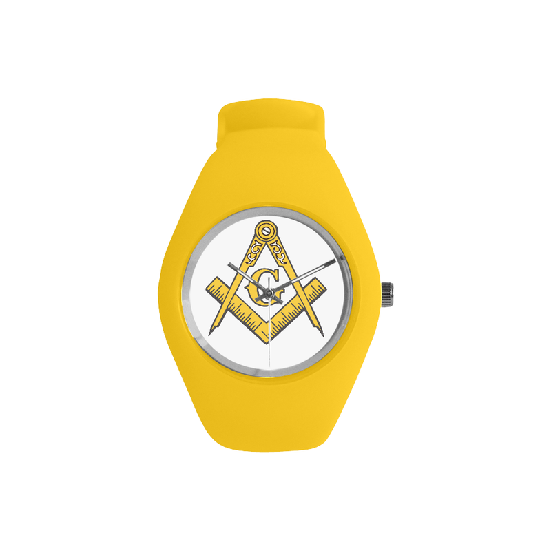Gold Silicone Gold Compass Mason Watch