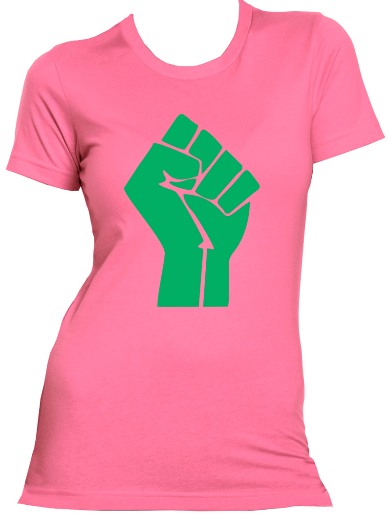 Pink and Green Fist Tee