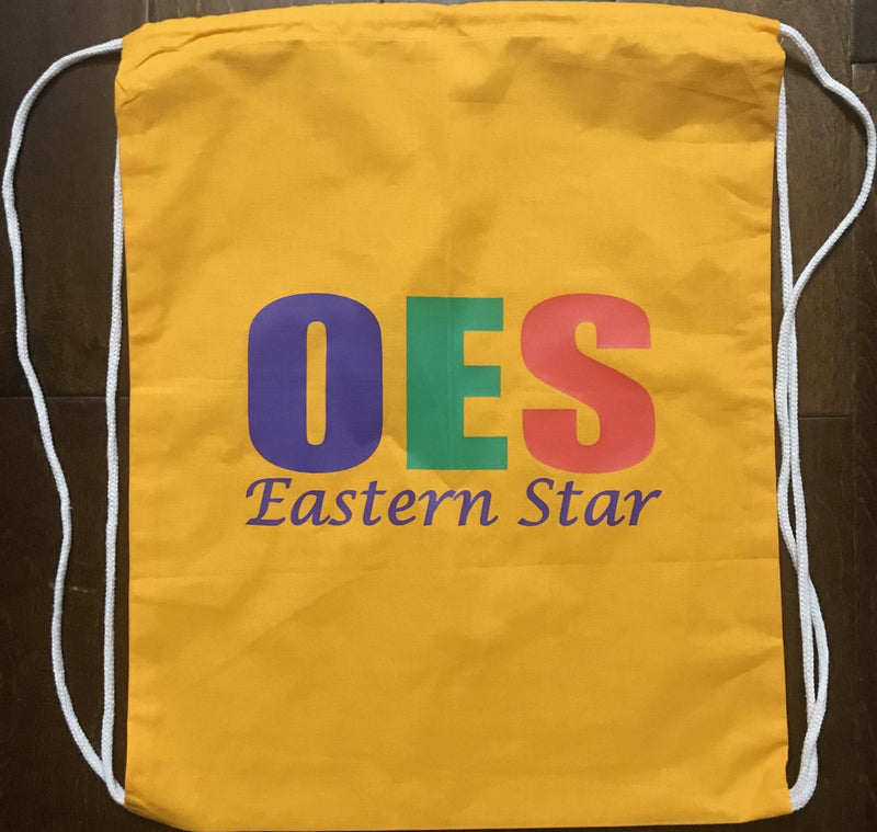 Gold OES Drawstring Bag