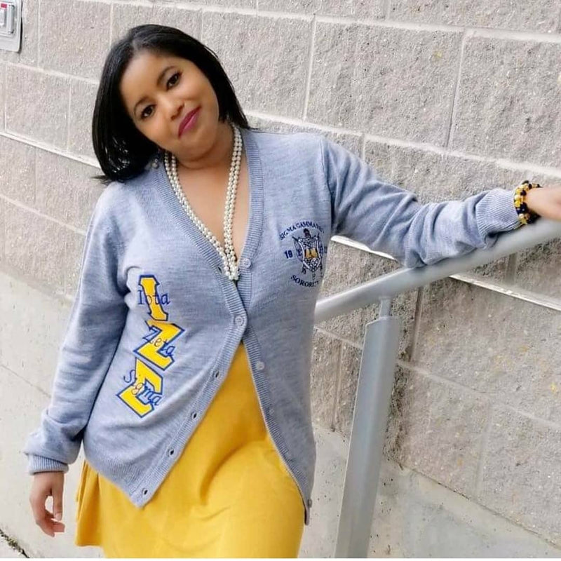 Custom SGRho Chapter Cardigan (Ladies Fit) (Up to 16 business days to ship)