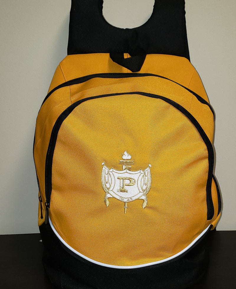 Gold Philo Shield Bookbag