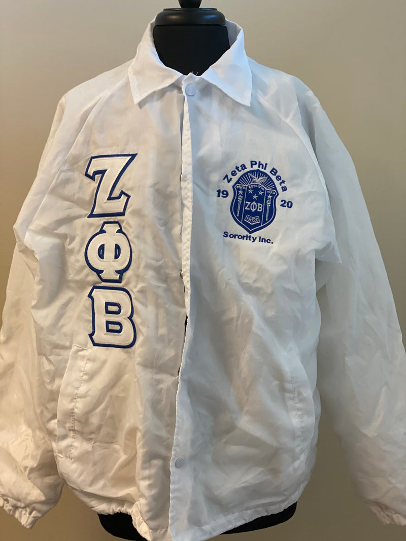 Clearance: Zeta White Line Jacket Medium Unisex