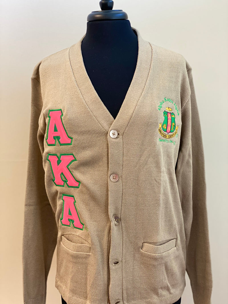 AKA Khaki with Hot Pink Letters Unisex ( up to 16 business days to ship)