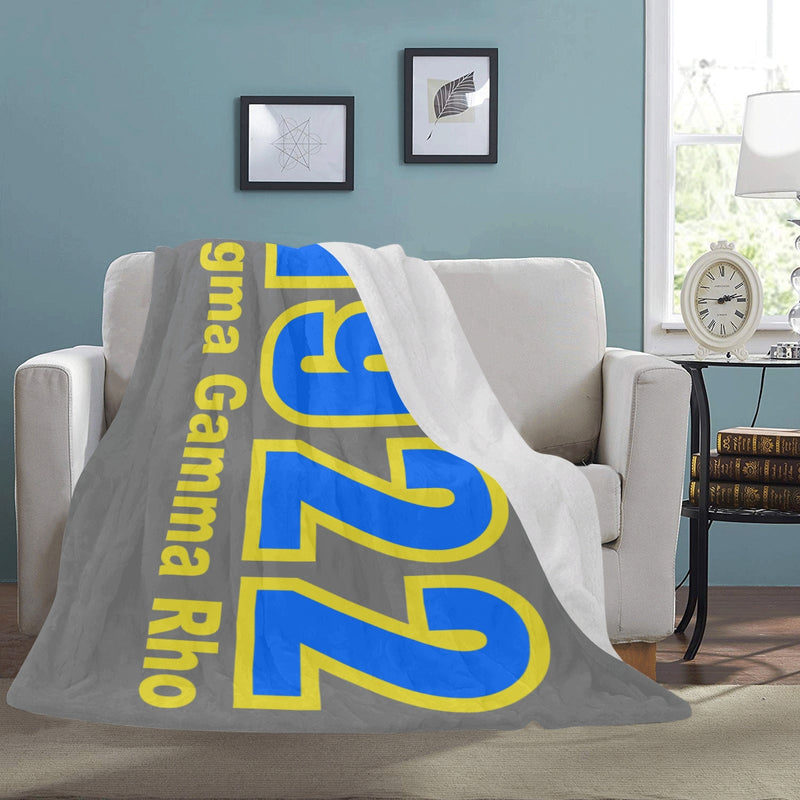 SGRho 1922 Dark Gray 60 x 80 Soft Micro-fleece Blanket (This item will take up to 16 business days to ship)
