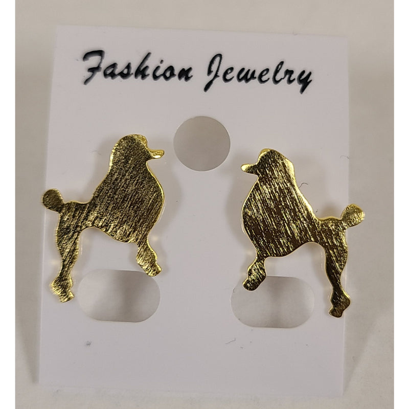 Gold plated Poodle Earrings