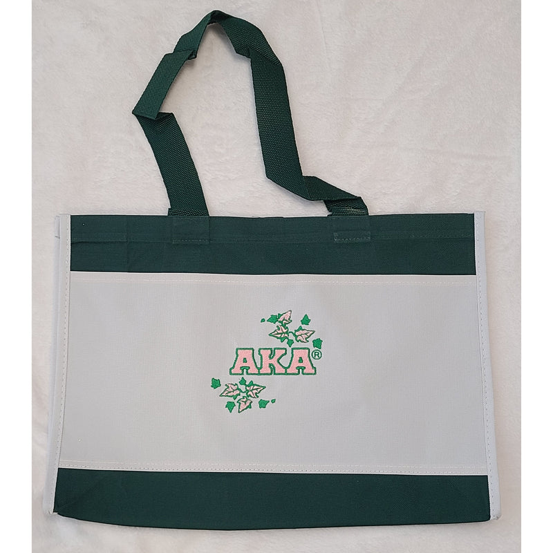 Clearance Green Embroidered Tote