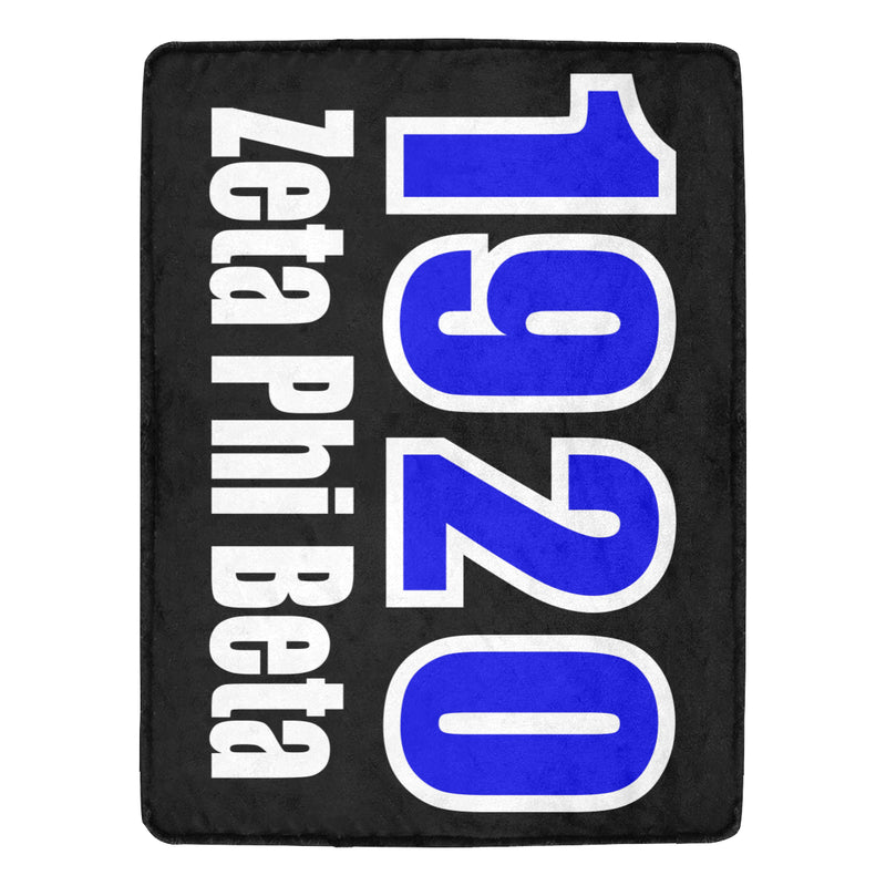 Zeta Black 1920 Blanket (This item will take up to 16 business days to ship)