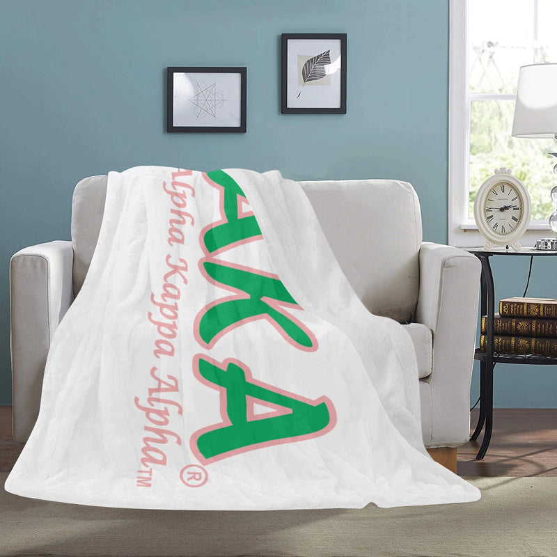 Huge White AKA Letters Extremely Soft 60″ x 80″ Micro Fleece Blanket (Takes up to 14 business days to ship)