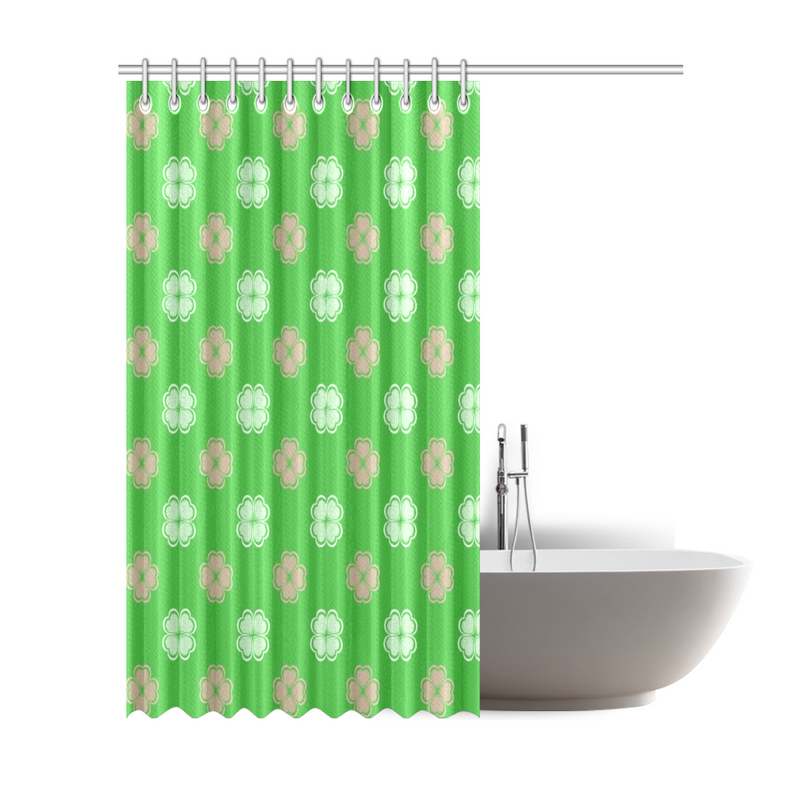 Pink and Green floral Shower Curtain (May take up to 16 business days to ship)